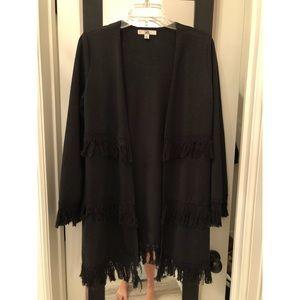 Black fringe sweater.